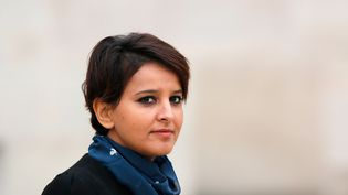La ministre de l'Education nationale, Najat Vallaud-Belkacem, le 14 octobre 2015 à Paris. (YANN BOHAC / CITIZENSIDE.COM / AFP)
