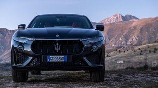 La Maserati Levante v6 350CV. La marque se lance dans une Maserati totalement électrique pour 2022. (LORENZO DI COLA / NURPHOTO / AFP)
