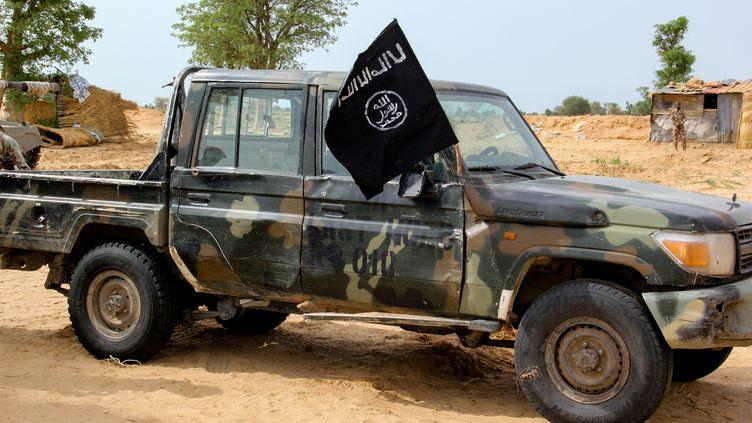 Un véhicule appartenant au groupe Etat islamique en Afrique de l'Ouest (Iswap), le 2 août 2019 à Baga,auNigeria. (AUDU MARTE / AFP)