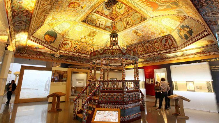 A l'intérieur du Musée de l'histoire des Juifs de Pologne, à Varsovie.  (Czarek Sokolowski/AP/SIPA)