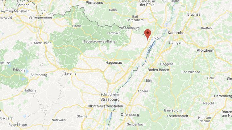 Un violent incendie s'était déclenché le 11 juillet dans un haras à Neewiller-près-Lautebourg (Bas-Rhin). (GOOGLE MAPS)