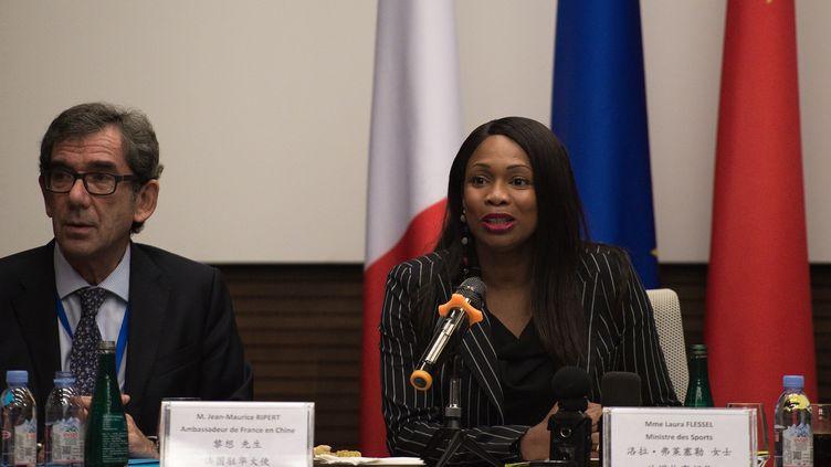 La ministre des Sports Laura Flessel, en octobre 2017 (NICOLAS ASFOURI / AFP)