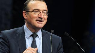 Le député UMP Hervé Mariton, candidat à la présidence de son parti, le 15 novembre 2014, à Paris. (DOMINIQUE FAGET / AFP)