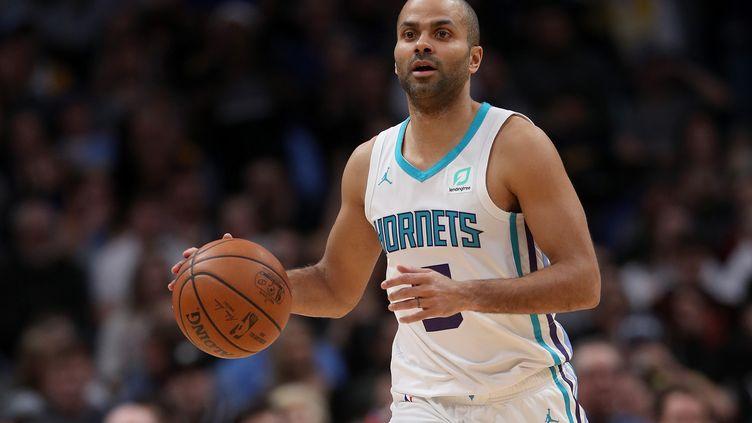 Le basketteur Tony Parker à Denver (Etats-Unis), le 5 janvier 2019. (MATTHEW STOCKMAN / GETTY IMAGES NORTH AMERICA / AFP)