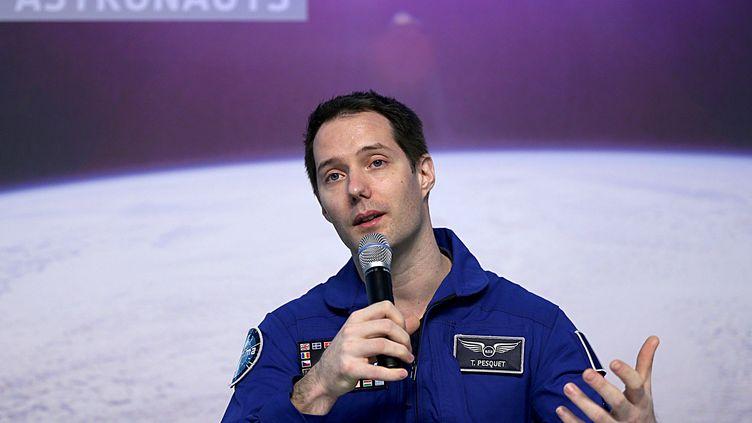 L'astronaute Thomas Pesquet à Cologne en Allemagne en juin 2017. (OLIVER BERG / DPA)