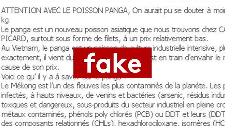 Capture d'écran d'une publication avertissant des dangers de la consommation de panga. (RADIO FRANCE)