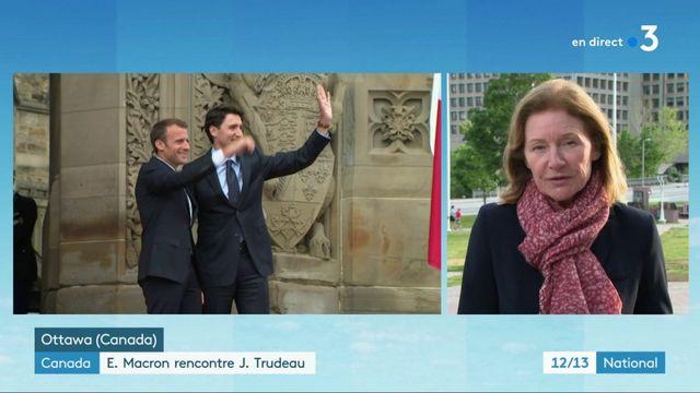 Canada : Emmanuel Macron rencontre Justin Trudeau