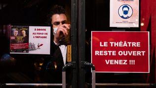 Dans le quartier du Montparnasse, à Paris, le 16 octobre 2020. (ALEXIS SCIARD / MAXPPP)