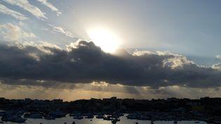 L'ile de Lampedusa, en février 2015. (ALBERTO PIZZOLI / AFP)