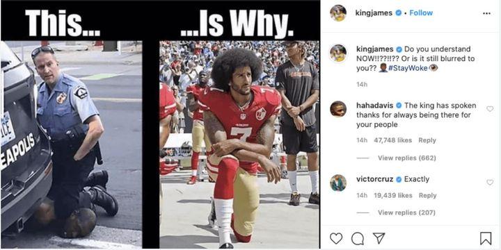 Le message de protestation de LeBron James suite au décès de George Floyd