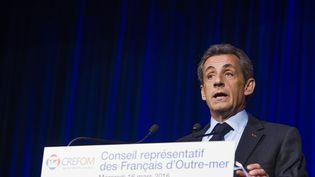 Le président du parti Les Républicains, Nicolas Sarkozy, le 16 mars 2016 à Paris. (LEWIS JOLY / SIPA)