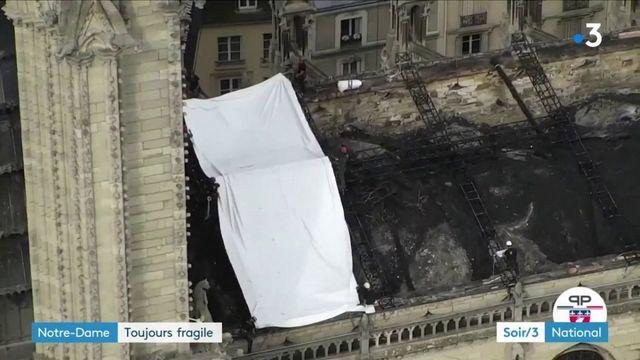 Notre-Dame reste fragile et vulnérable au vent