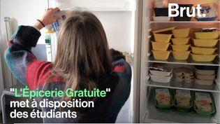 """Lancée en janvier 2019, """"L'Épicerie Gratuite"""" de l'Université Rennes 2 met à disposition des étudiants en difficulté financière des invendus issus des grandes surfaces. (BRUT)"""