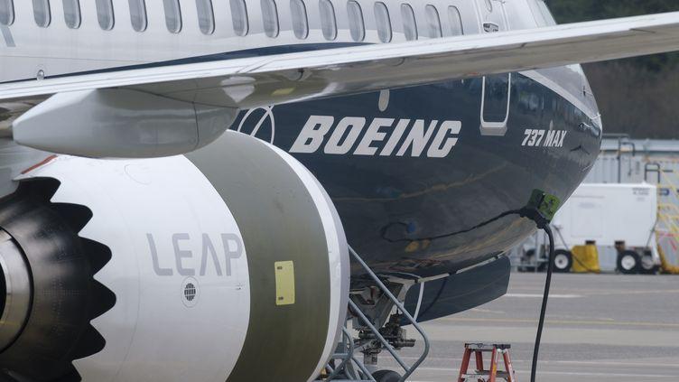 Un Boeing 737 Max à Seattle aux Etats-Unis, le 22 mars 2019. (STEPHEN BRASHEAR / GETTY IMAGES NORTH AMERICA / AFP)