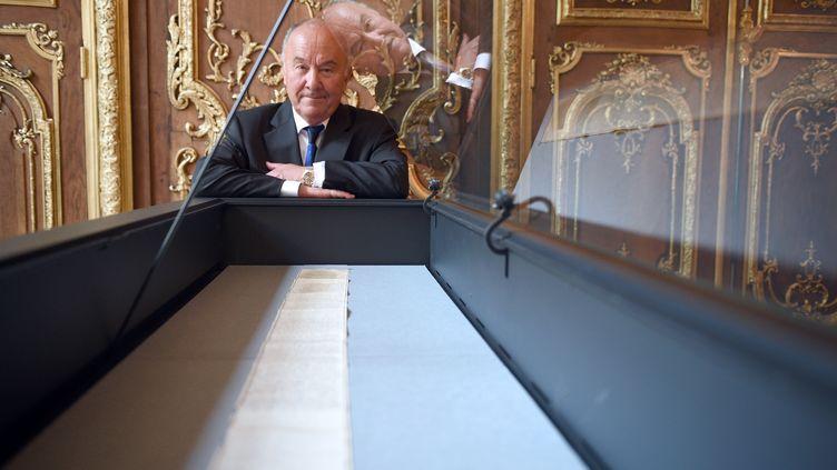 Gerard Lheritier, fondateur d'Aristophil, le 2 avril 2014. (MARTIN BUREAU / AFP)