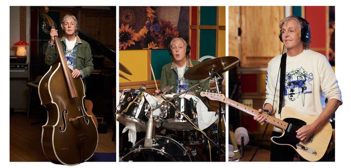 """Paul McCartney, joue de tous les instruments sur son nouvel album """"McCartney III"""" (décembre 2020). (MARY McCARTNEY)"""