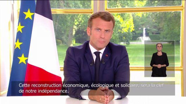 Emmanuel Macron évoque la relance économique