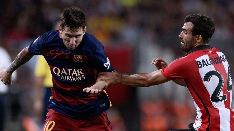 Lionel Messi a inscrit le but du Barça face à Bilbao, en finale retour de la Supercoupe d'Espagne.
