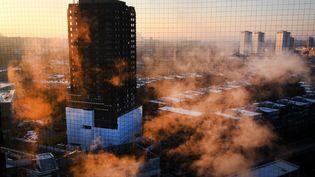 Un incendie a ravagé la tour Grenfell à Londres (Royaume-Uni), le 14 juin 2017. (MAXPPP)