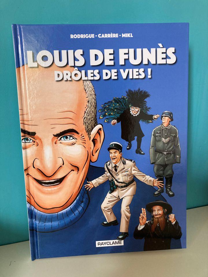 """Couverture """"Louis de Funès, drôles de vies"""",de Rodrigue, Carrère, Mikl, 2021 (RAYCLAM)"""