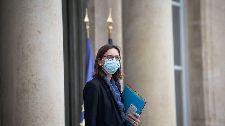 La ministrede la Transformation et de la fonction publiques, Amélie de Montchalin, le 30 juin 2021, à l'Elysée. (ARTHUR NICHOLAS ORCHARD / HANS LUCAS / AFP)
