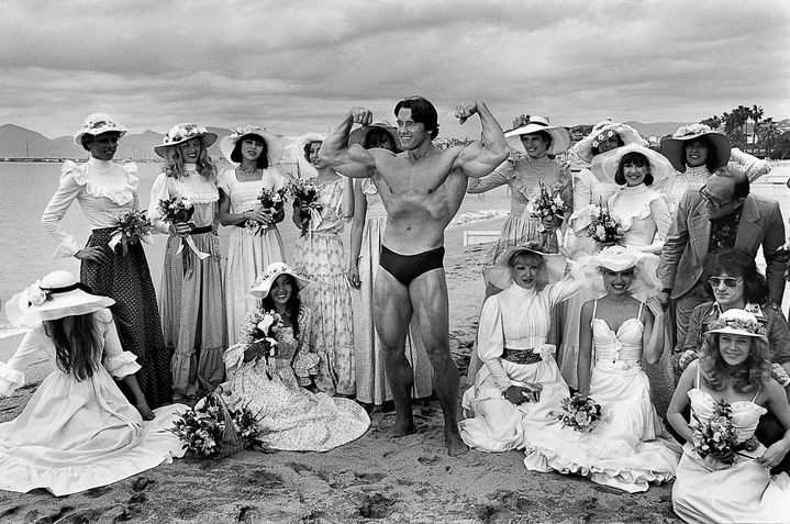 Arnold Schwarzenegger, Cannes 1977  (Serge Assier)