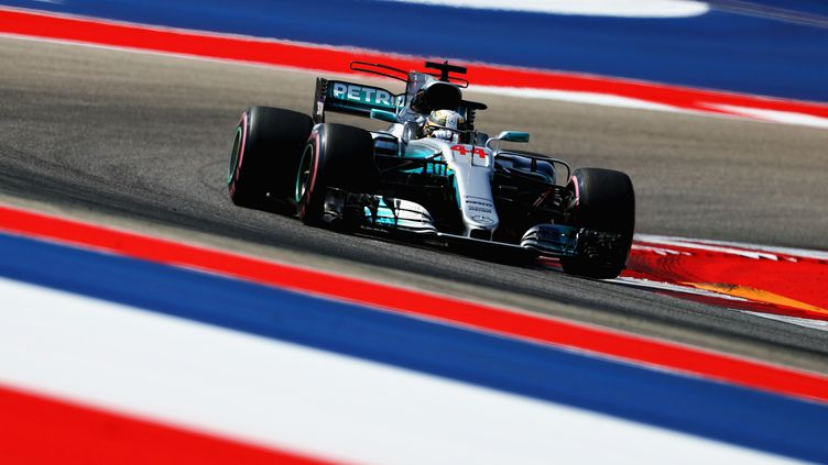 Lewis Hamilton sur sa Mercedes à Austin (CLIVE ROSE / GETTY IMAGES NORTH AMERICA)
