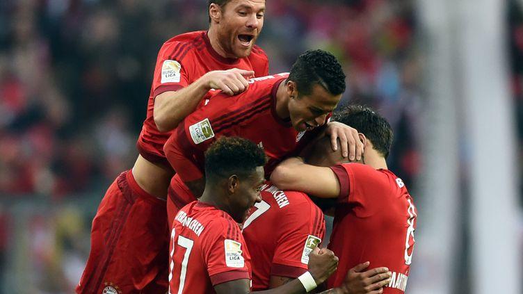 Les joueurs du Bayern ont pris beaucoup de plaisir face au Borussia (ANDREAS GEBERT / DPA)