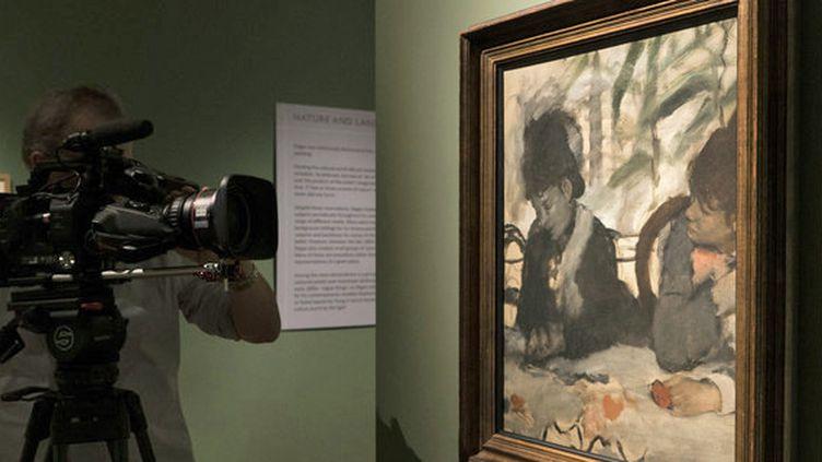 """""""Degas : une passion pour la perfection"""" : filming """"Au café"""" d'Edgar Degas (1876)  (David Bickerstaff )"""