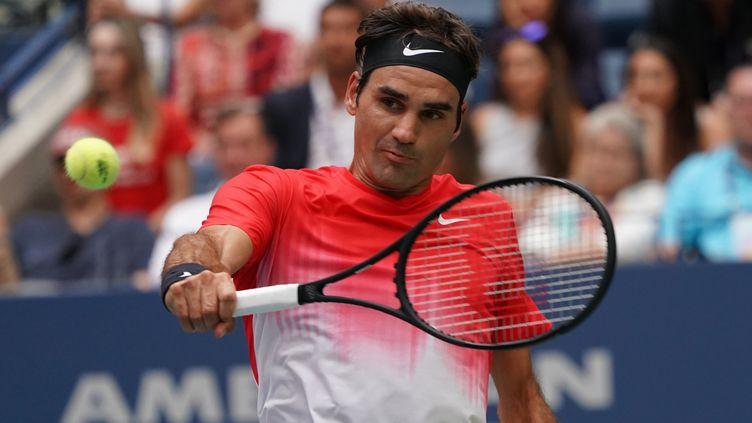 Roger Federer lors de l'US Open (DON EMMERT / AFP)