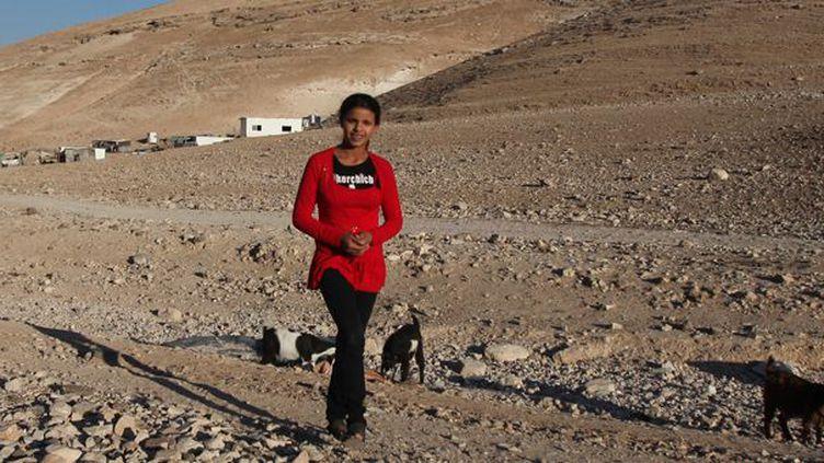 La jeune Salha Hamadin a reçu le le prix Hans Christian Andersen  (Abbas Momani / AFP)