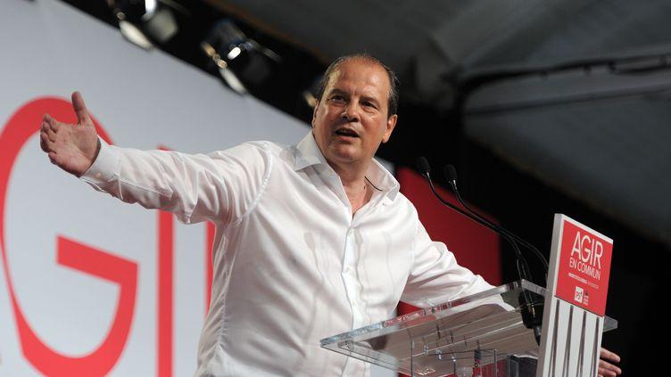 Jean-Christophe Cambadélis lors de l'université d'été du Parti socialiste à La Rochelle (Charente-Maritime), le 30 août 2015. (XAVIER LEOTY / AFP)