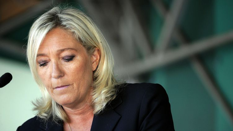 Marine Le Pen,présidente du Front national, fait sa rentrée politique, le 30 août 2014 à Brachay (Haute-Marne). (MAXPPP)