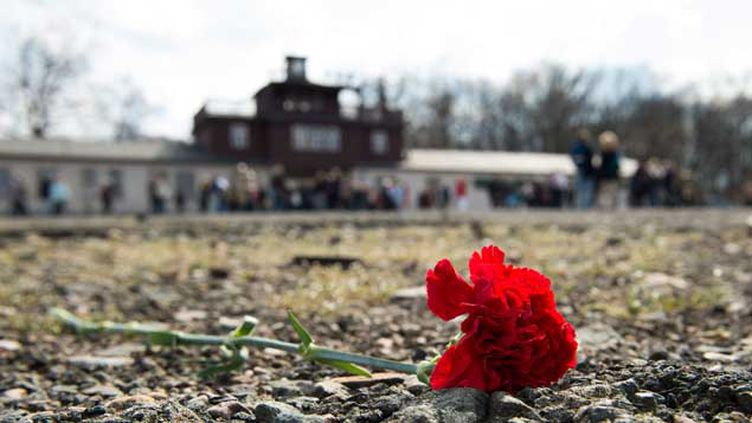 (Le camp de concentration de Buchenwald, près de Weimar, fut le plus grand camp de concentration sur le sol allemand. Plus de 56.000 personnes y sont mortes © Maxppp)