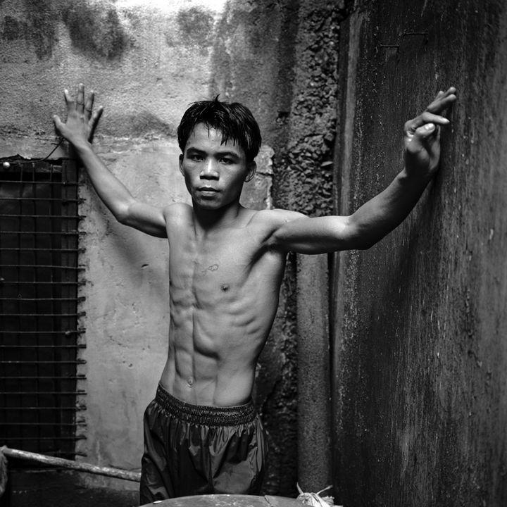 Le boxeur philippin Manny Pacquiao, photographié en 1996 aux Philippines. (GERHARD JOREN / LIGHTROCKET / SIPA)