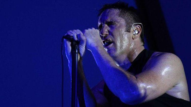 Trent Reznor, tête pensante de Nine Inch Nails, sur scène à Chicago le 2 août 2013.  (Steve Mitchell/AP/SIPA)