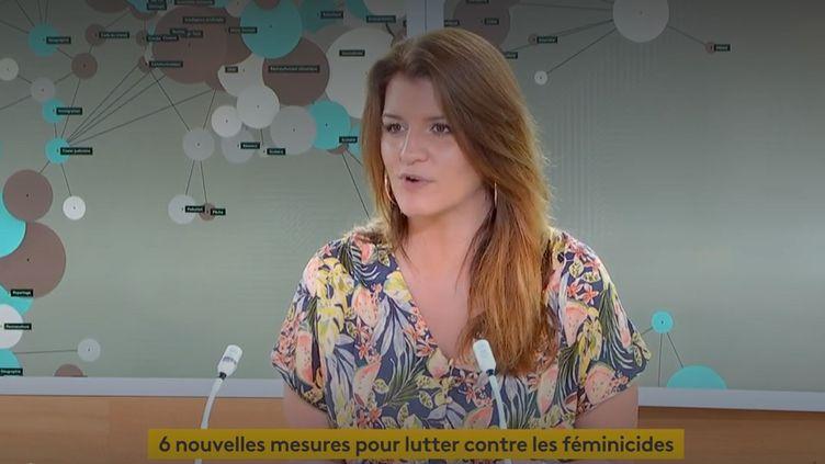 Marlène Schiappa était l'invitée de franceinfo jeudi 10 mai 2021. (FRANCEINFO)