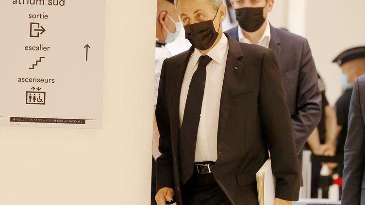 Nicolas Sarkozy à son arrivée au tribunal le 15 juin. (LP/OLIVIER LEJEUNE / MAXPPP)