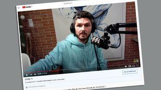 Thierry Casasnovas promet dans des vidéos postées sur YouTube des recettes de guérison contre le Covid-19 notamment à base de bain froid, jeûne et jus de carotte. (CAPTURE D'ÉCRAN)