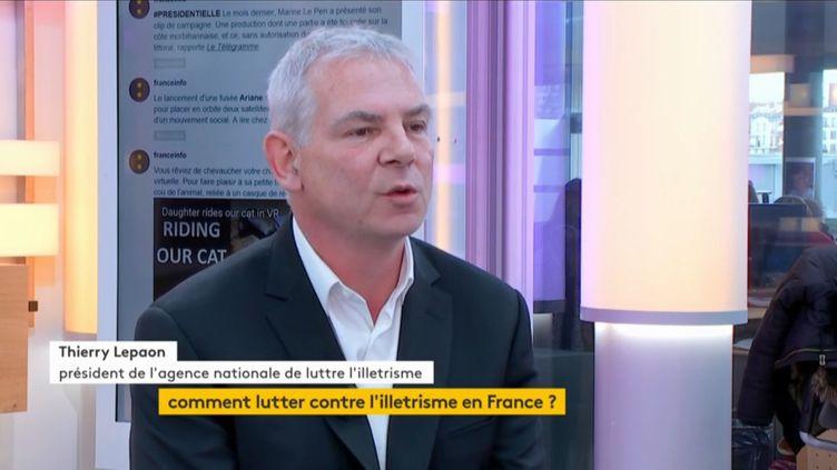 Thierry Lepaon, président de l'agence nationale de lutte contre l'illettrisme (FRANCEINFO)