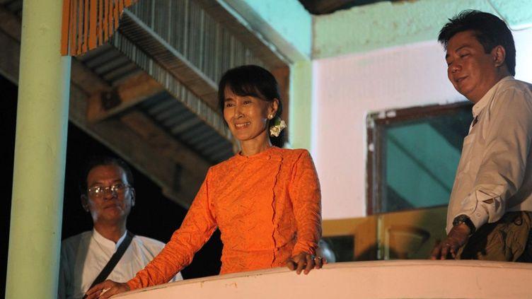 Aung San Suu Kyi dans sa circonscription de Kamu  (Manon Loizeau)