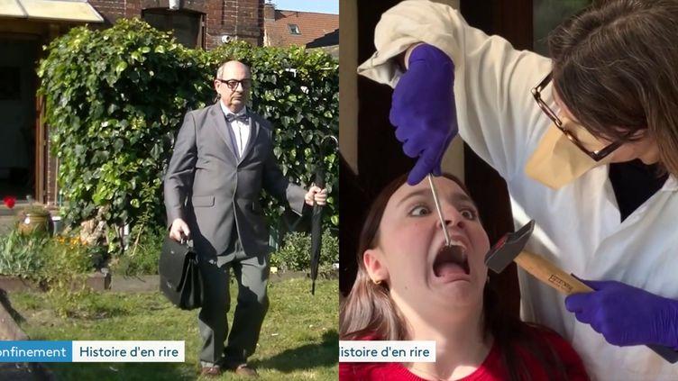 """""""Confiné de justesse"""" et """"Les2 confinées"""" , deux séries humouristiques qui cartonnent sur youtube (France 3 Normandie)"""