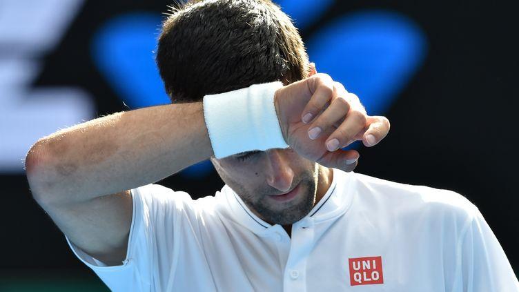 Le joueur serbe Novak Djokovic (PAUL CROCK / AFP)