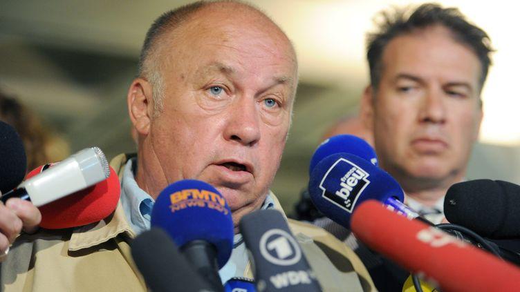 """DominiqueAlderweireld, plus connu sous le nom de """"Dodo la Saumure"""", à sa sortie du procès du Carlton, à Lille (Nord), le 12 juin 2015. (PHILIPPE HUGUEN / AFP)"""