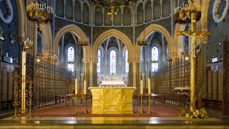 Autel de la Basilique de l'Immaculée conception à Lourdes, Hautes-Pyrénées (SONNET SYLVAIN / HEMIS.FR)