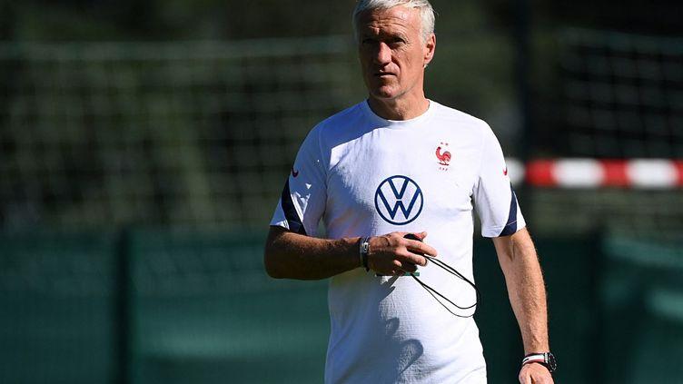 Les Bleus de Didier Deschamps vont disputer 3 matchs qualificatifs pour le Mondial 2022. (FRANCK FIFE / AFP)
