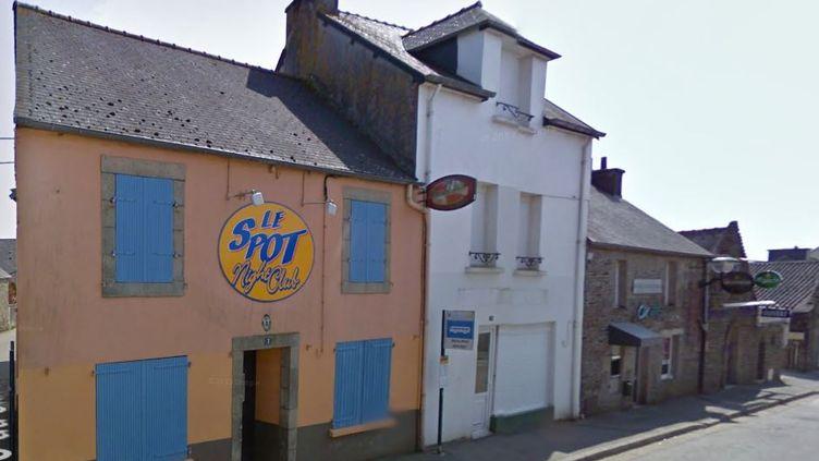 Capture d'écran de Google Street View sur la discothèque Le Spot, à Spézet (Finistère). (GOOGLE STREET VIEW)