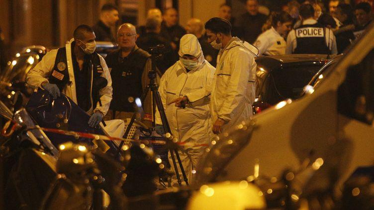 Une attaque au couteau a été perpétrée près de la place de l'Opéra à Paris, dans la soirée du 12 mai 2018. (GEOFFROY VAN DER HASSELT / AFP)