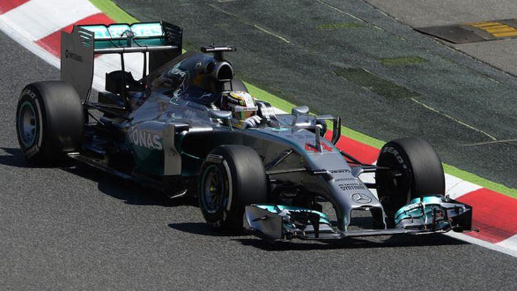 Le Britannique Lewis Hamilton sur sa Mercedes