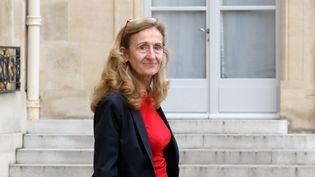 La ministre de la Justice, Nicole Belloubet, le 30 octobre 2019, dans la cour de l'Elysée, à Paris. (LUDOVIC MARIN / AFP)